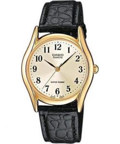 Casio Collection Black Leather Strap MTP-1154PQ-7B2EF