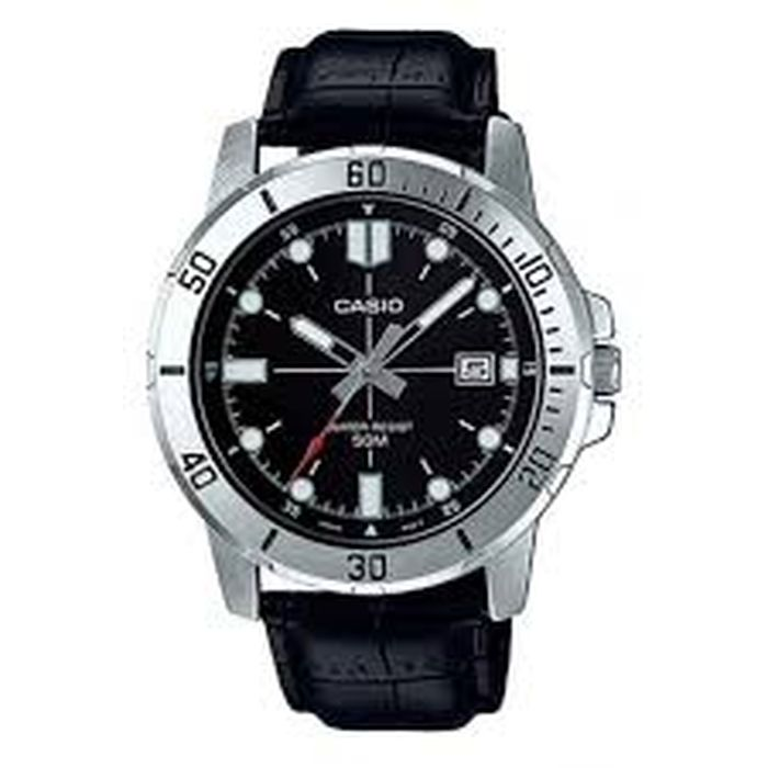 Casio Collection Casual Silver Stainless Steel Bracelet Gents Watch  MTP-VD01L-1E 5435abf2ef1