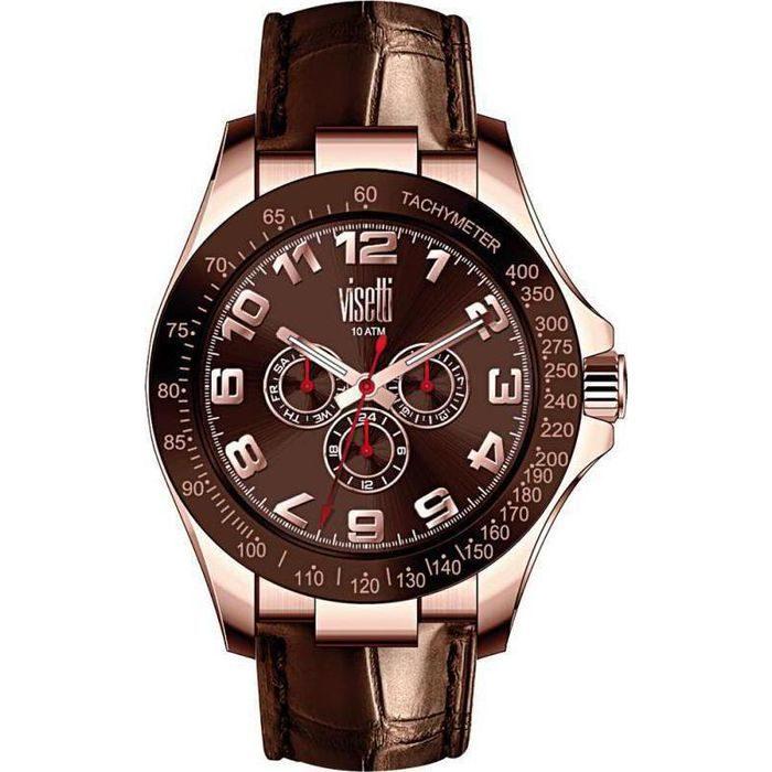 Visetti Avatar Men's Watch Leather Strap PE-619RK