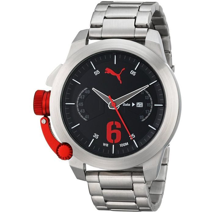 PUMA Advance Silver Plated Stainless Steel Bracelet Gents Watch- Cod: PU103781004