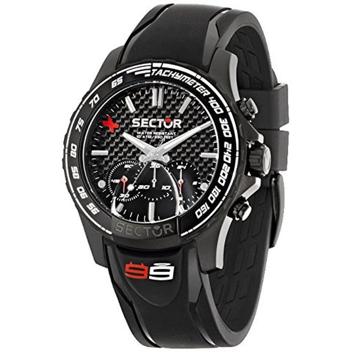 SECTOR Black Silicone Strap Gents Watch- Cod.: R3271677001