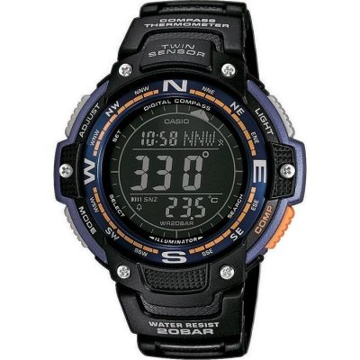 Casio Collection Standard Chrono Black Rubber Strap Gents Watch- Cod.: SGW-100-2BER