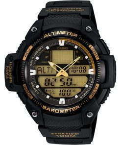 Casio  Mens Twin Sensor Barometer Sports Watch : SGW-400H-1B2V
