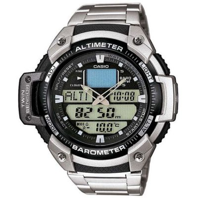 Casio Collection Sports Adventure Stainless Steel Bracelet Gents Watch- Cod.: SGW-400HD-1B