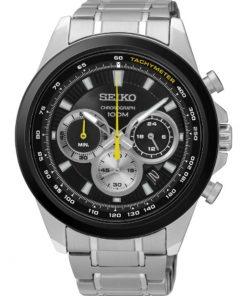SEIKO Watch Mens Chronograph Stainless Steel Bracelet SSB247P1