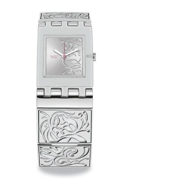 Swatch Analog Silver Dial Women's Watch - SUBM109G Leaf Spectacle
