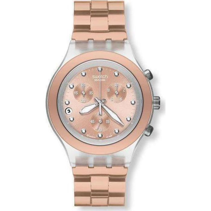 SWATCH Irony Diaphane Chrono Full Blooded Caramel Ladies Watch -Cod   SVCK4047AG 50540a30e9b