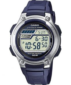 CASIO Collection Digital Blue Rubber Strap W-212H-2AVES