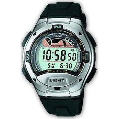 CASIO Collection Digital Black Rubber Band  W-753-1AV