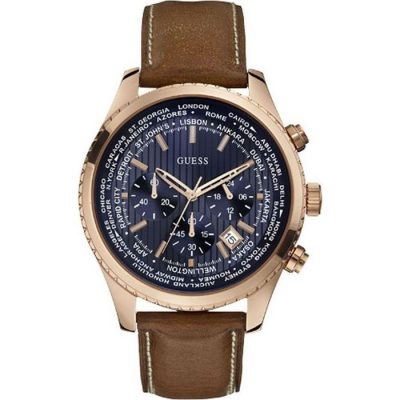 Guess Men's Pursuit Chronograph Rose Gold Stainless Steel Case