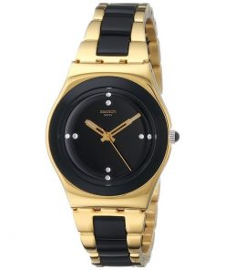 SWATCH Yellow Pearl Two Tone Bracelet Ladies Watch -Cod: YLG124G
