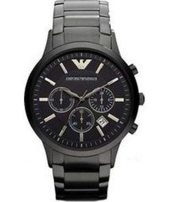 Emporio Armani Gents Black Stainless Steel Chronograph AR2453