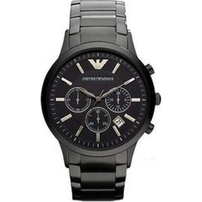 Emporio Armani Gents Black Stainless Steel Chronograph AR2453