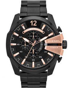 DIESEL Mega Chief Black Stainless Steel Bracelet Gents Watch  DZ4309