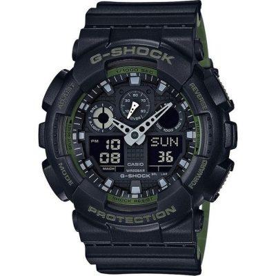 CASIO G-Shock Anadigi Black Rubber Strap GA-100L-1AER