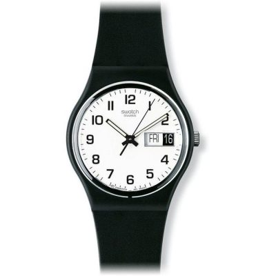 Swatch Once Again Black Rubber Strap GB743