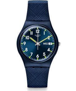 Swatch Unisex Sir Blue Watch GN718
