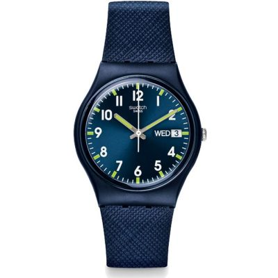Swatch Unisex Sir Blue Watch GN718