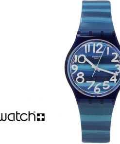 SWATCH Linajola Light Blue Rubber Strap GN237