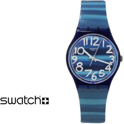 SWATCH Linajola Light Blue Rubber Strap GN237