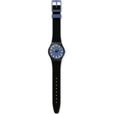 SWATCH Nightsea Black Rubber Strap GB281