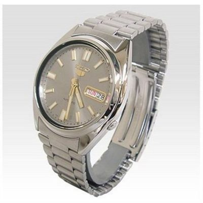Seiko Men's 5 Automatic SNXS75K Silver Stainless-Steel Automatic Watch with Silver Dial