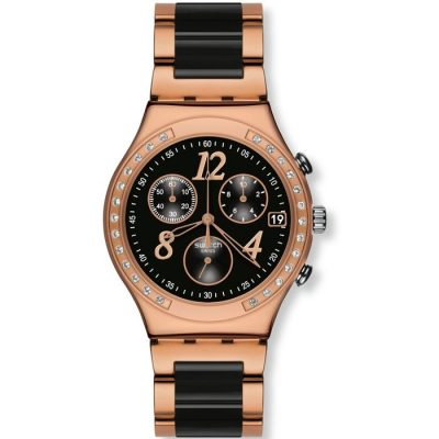 Swatch Dreamnight Rose Gold Stainless Steel Chronograph YCG404G